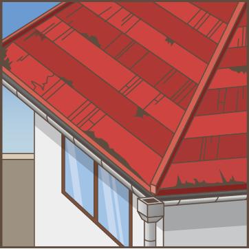 屋根を塗り替えて5年以上1度も点検していない